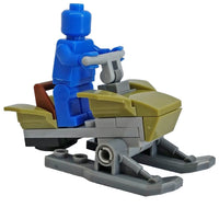 Minifig Olive Drab Snowmobile - Vehicles