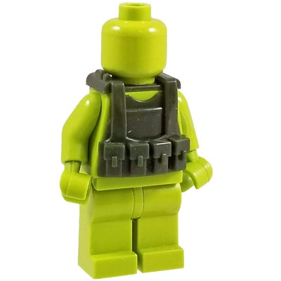 Minifig Olive Drab Tactical Vest 2 - Vests