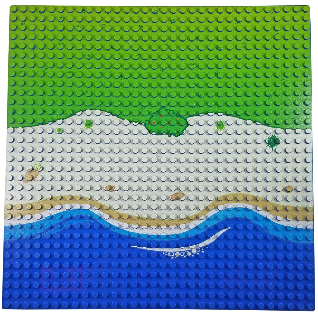 Minifig One 32*32 Baseplate Beach Front - Baseplate