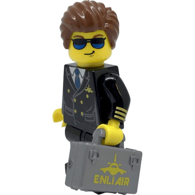 Minifig Pilot Roger-Brick Forces