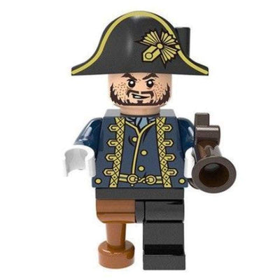 Minifig Pirate Barbossa with Wooden Leg - Minifigs