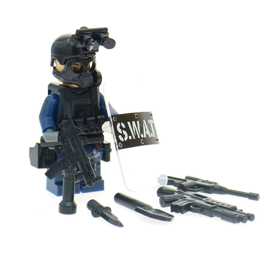 Minifig Police SWAT with Riot Shield - Minifigs