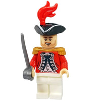 Minifig Revolutionary War British Officer Halsey - Minifigs