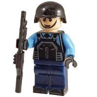 Minifig Riot POLICE Officer with Shotgun - Minifigs