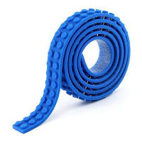 Minifig Silicon Dot Tape (3 Long) - Blue - Baseplate