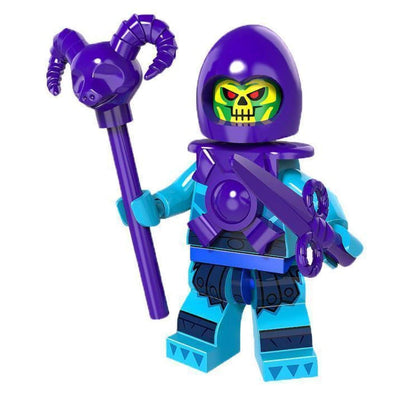 Minifig Skeletor with Staff - Minifigs