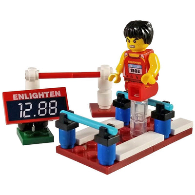 Minifig Small Diorama Set Hurdle Athlete - Sets
