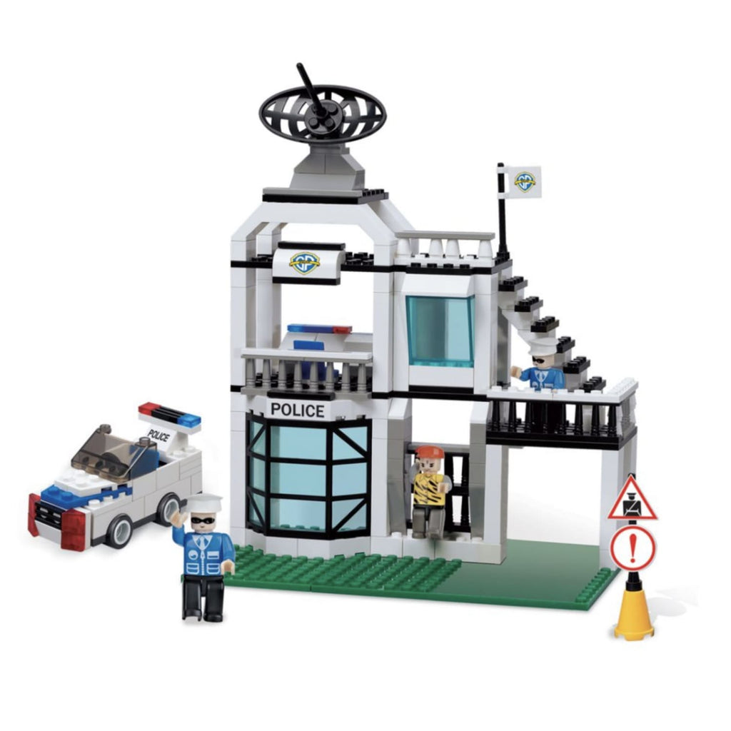 Minifig Small Police Station Set (220 Pieces) - Buildings