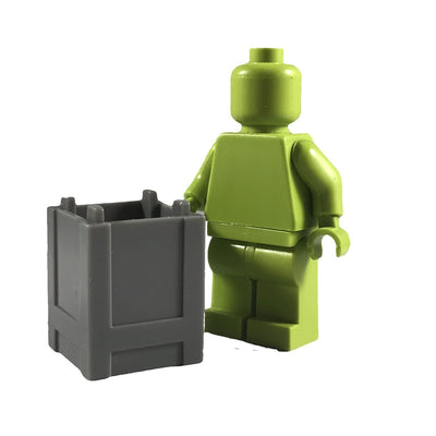 Minifig Small Stackable Container or Crate Grey - Dioramas