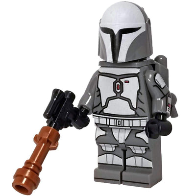 Minifig Space Bounty Hunter Grey - Minifigs