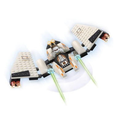 Minifig Space Fighter 4 Set (80 Pieces) - Airplanes