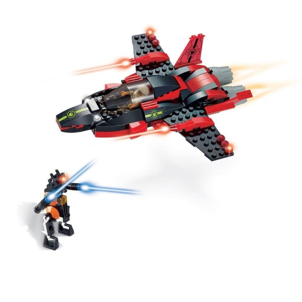 Minifig Space Hawk Set (161 Pieces) - Airplanes