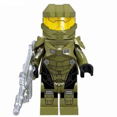 Minifig Spartan Olive Green Armor - Minifigs