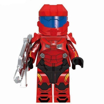 Minifig Spartan Red Armor - Minifigs