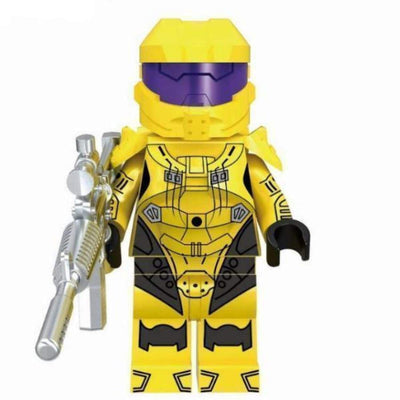 Minifig Spartan Yellow Armor - Minifigs