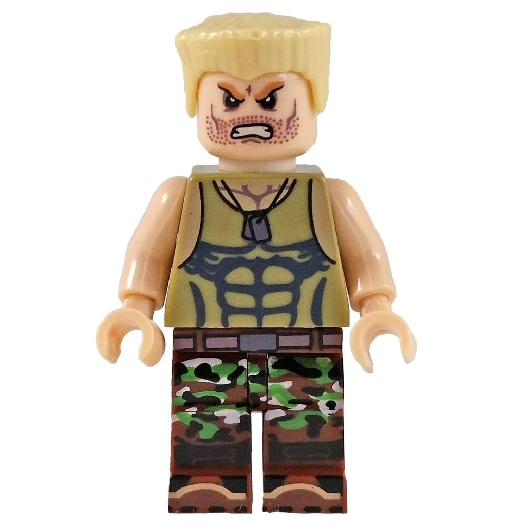 Minifig Street Fighter Guile Brick Forces