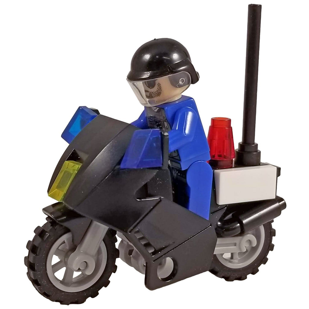 Minifig SWAT Motorcycle with Rider - Motorcycles