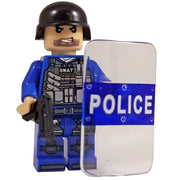 Minifig SWAT With Shield - Minifigs