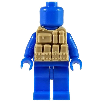 Minifig Tan Tactical Vest 3 - Vests
