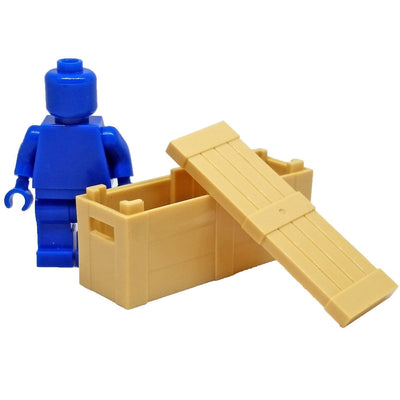 Minifig Thin Tan Crate - Dioramas