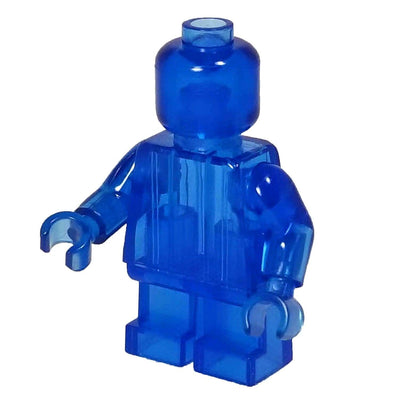 Minifig TRANSPARENT BLUE Short Legs