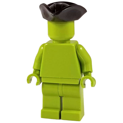 Minifig Tricorne Hat Black - Headgear