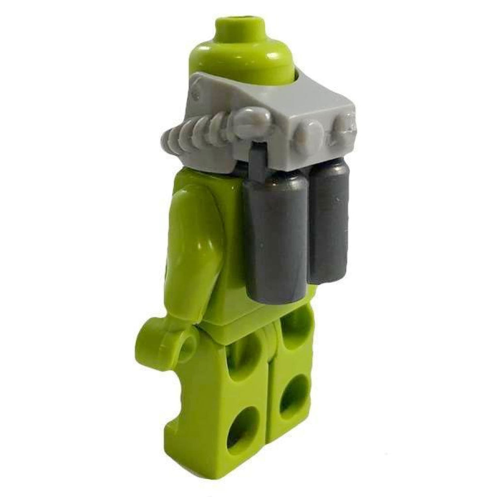 Minifig Twin SCUBA Dive Tanks and Regulator Set - Accessories