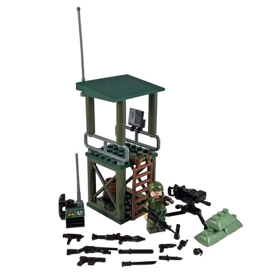 Minifig U.S. Marines Guard Tower Set 1 of 4 (73 Pieces) - Sets