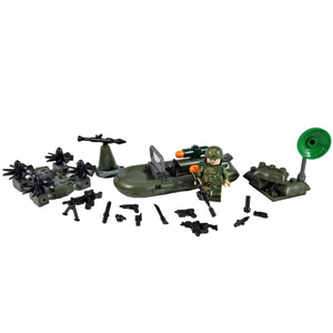 Minifig U.S. Marines Raft with Drone Set 2 of 4 (80 Pieces) - Sets