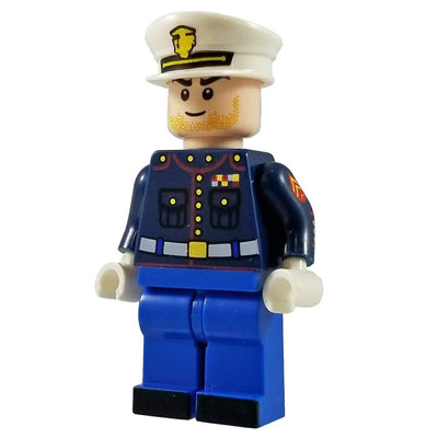 Minifig U.S. Marine Dress Blues with Blue Pants Corporal - Minifigs