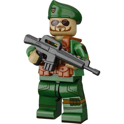 Minifig Vietnam Green Beret (Special Forces) Soldier - Minifigs