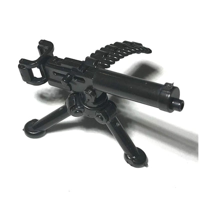Minifig Water Cooled Machine Gun Weapons Pack - Heavy Weapon
