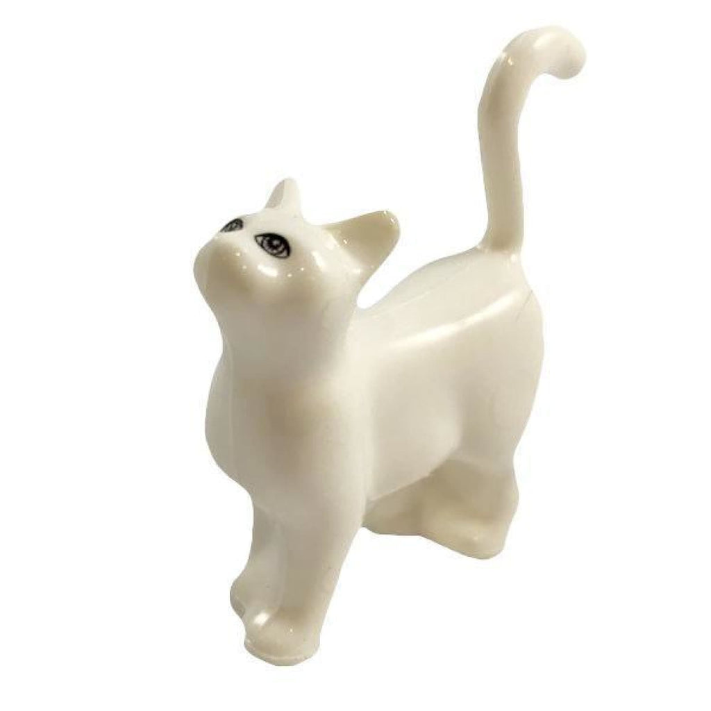 Minifig White Cat - Animals