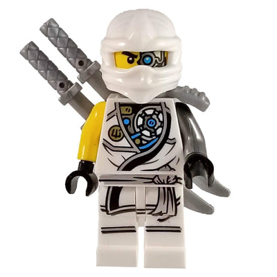 Minifig White Ninja with Yellow Arm - Minifigs