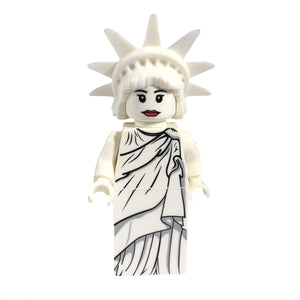 Minifig White Statue of Liberty - Minifigs