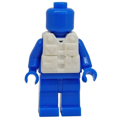 Minifig White Tactical Vest 1 - Vests