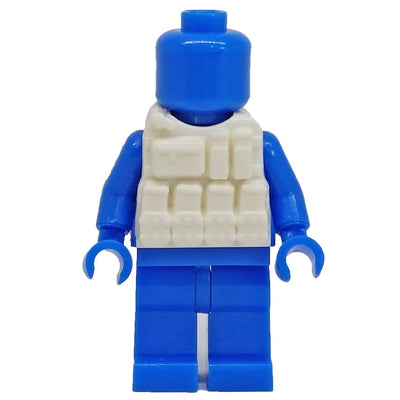 Minifig White Tactical Vest 3 - Vests