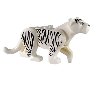 Minifig White Tiger - Animals