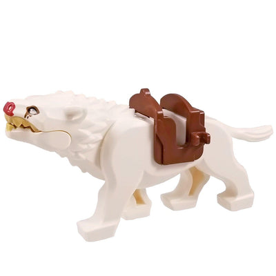 Minifig White Wolf Warg - Animals