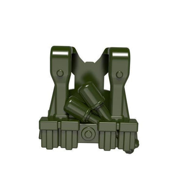 Minifig World War German Grenade Harness OLIVE GREEN - Vests