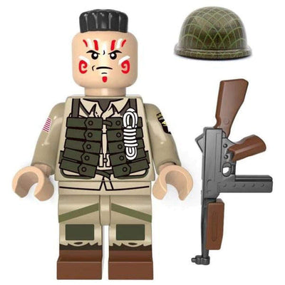 Minifig World War II American 101st Airborne War Paint - Minifigs