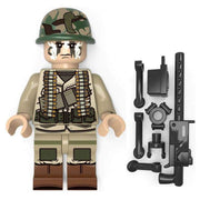 Minifig World War II American 82nd Airborne Heavy Gunner - Minifigs