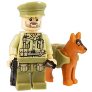 Minifig World War II American Raven Squad Huston and Dog - Minifigs