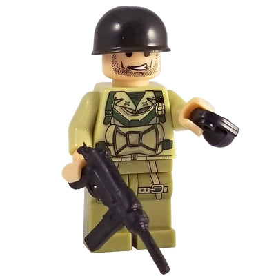 Minifig World War II American Raven Squad Miller - Minifigs