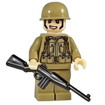 Minifig World War II American Soldier-Brick Forces