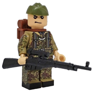 Minifig World War II German Flecktarn CAMO Alvin - Minifigs