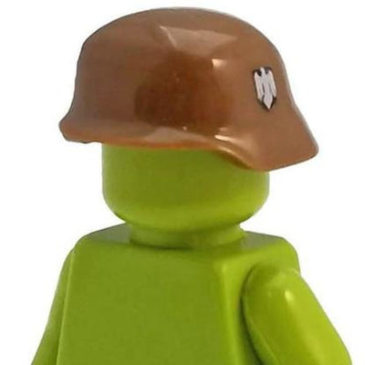 Minifig World War II German Helmet Brown - Headgear