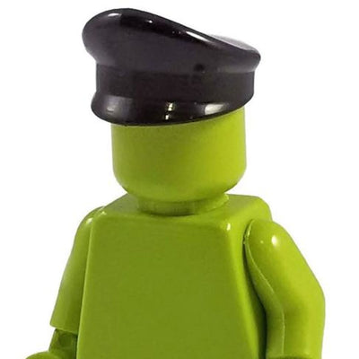 Minifig World War II German Officers Cap Black - Headgear