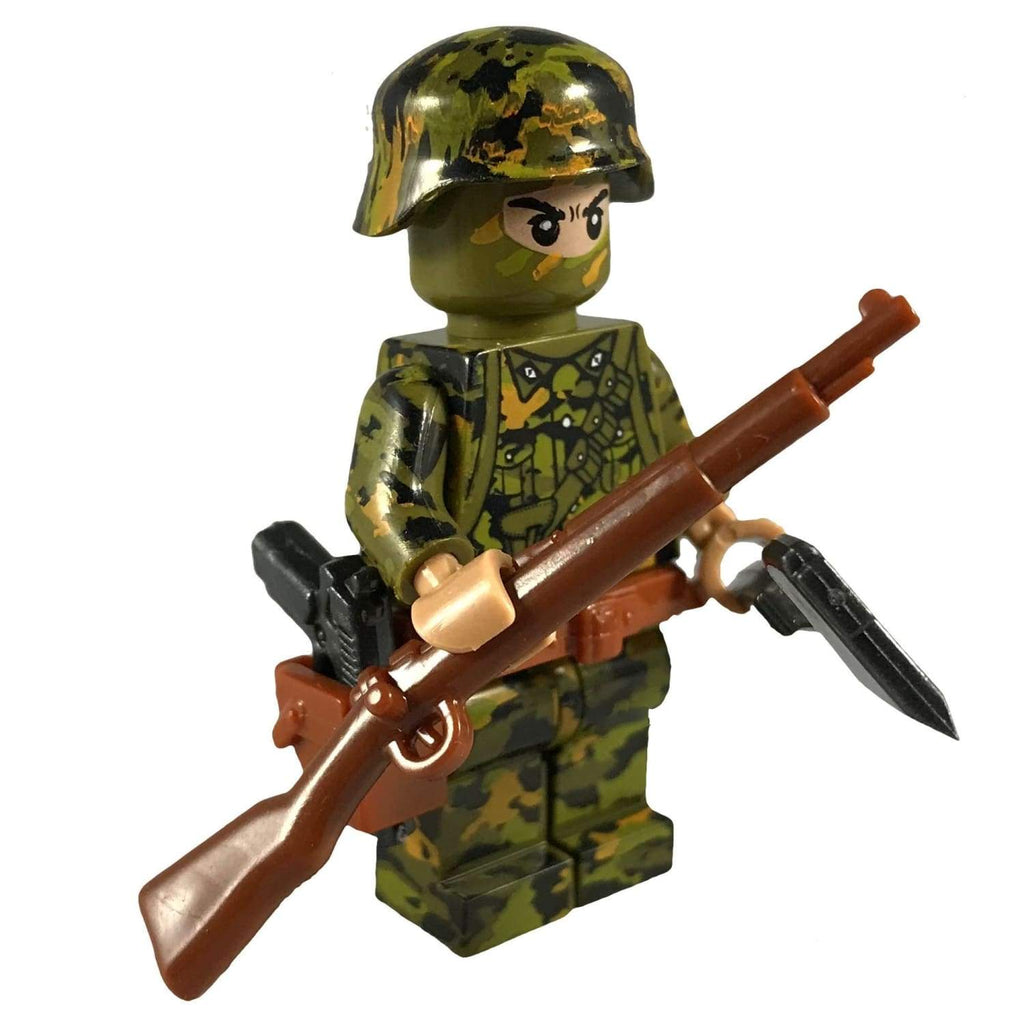 Minifig World War II German Smoke Spring CAMO Soldier Horst - Minifigs