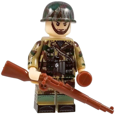 Minifig World War II German Splinter CAMO Paratrooper Heinz - Minifigs